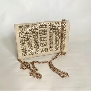 Deena & Ozzy Crossbody Bag/Clutch with Gold Chain
